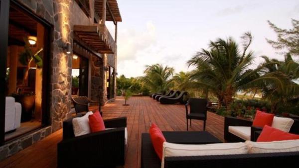Pristine beachfront home with modern luxuries