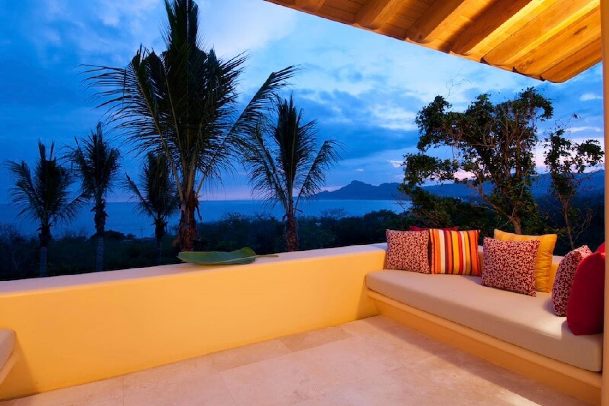 Relax on your own private terrace and enjoy the sunset.