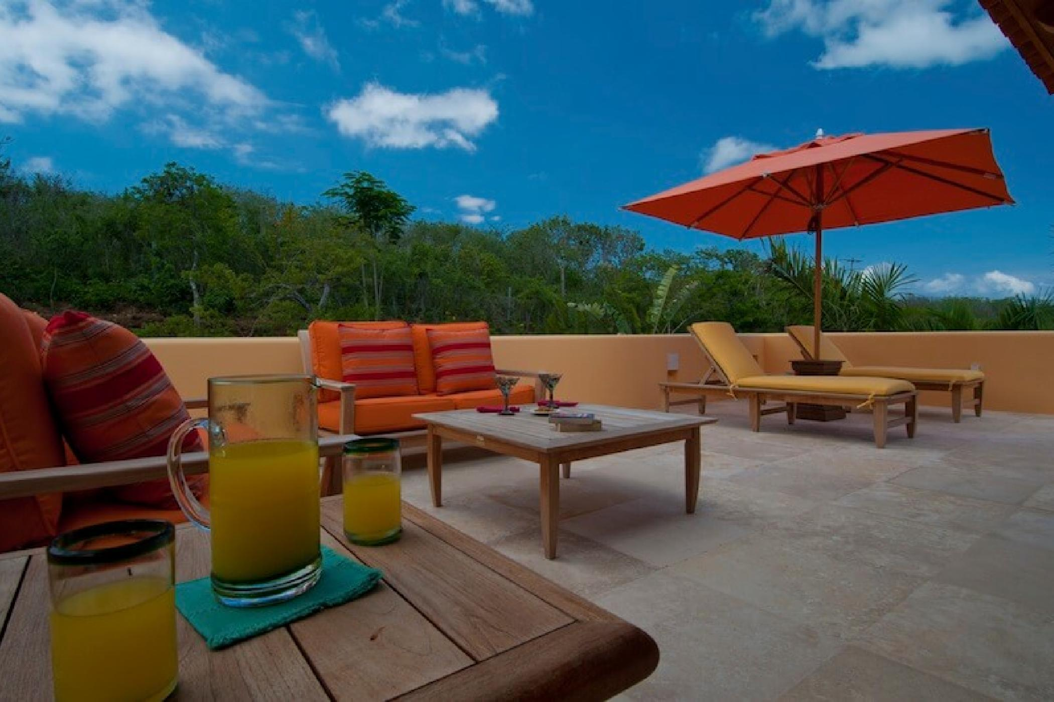 A rooftop sun terrace is another great getaway.