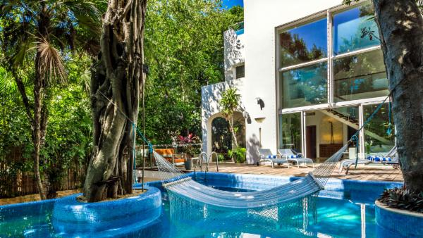 Private 5 BDR Playa del Carmen luxury villa; secluded beach, heated pool, exotic jungle, amazing views