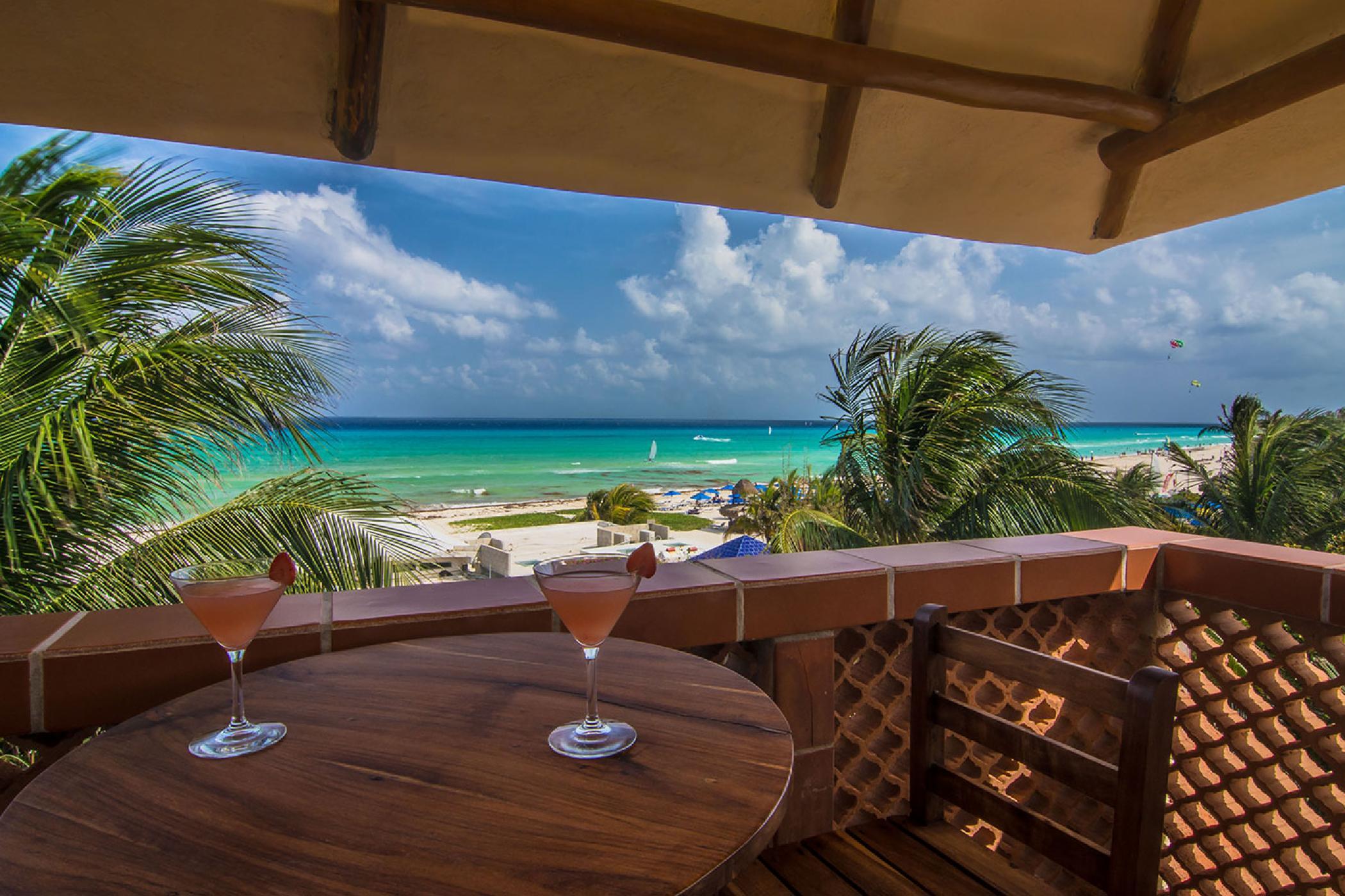 Playa del Carmen private 4 BDR castle home; Ocean Views, pool, tropical gardens, shuffleboard court