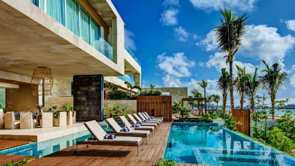 Captivating Playa del Carmen 7 BDR luxury estate; oceanfront, double pool, incredible outdoor living spaces